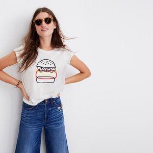 Madewell x Joey Pasko hamburger art crop tee 🍔